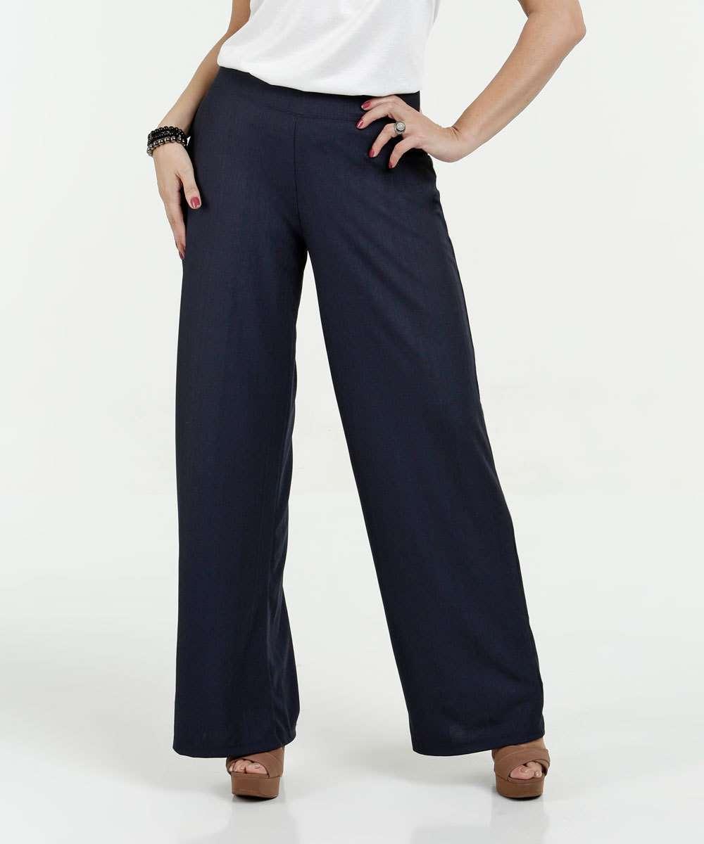Calça Feminina Pantalona Textura Marisa