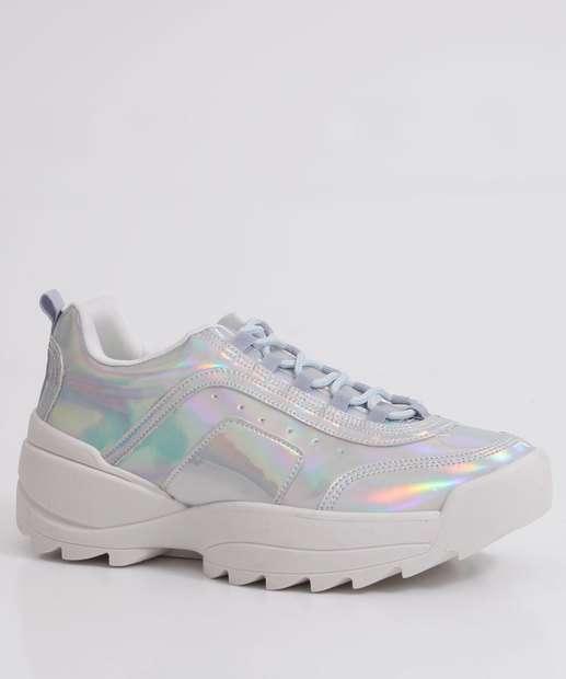 Image_Tênis Feminino Chunky Sneaker Holográfico Tratorado Zatz