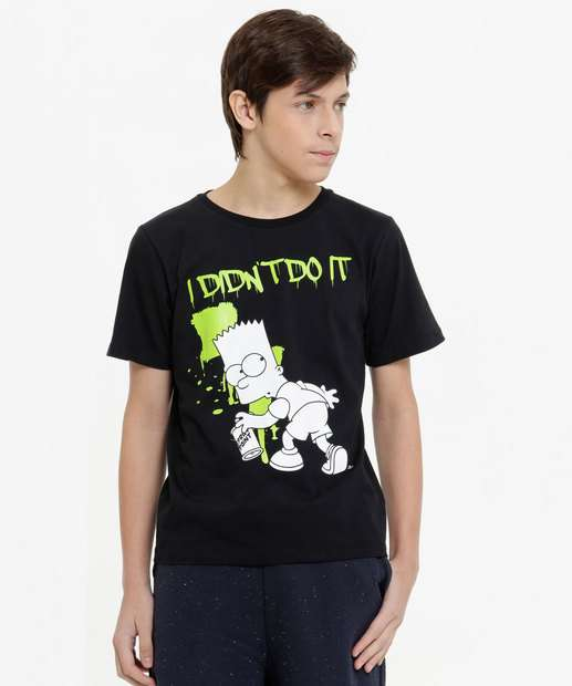 Image_Camiseta Juvenil Bart Manga Curta Simpsons Tam 10 a 16