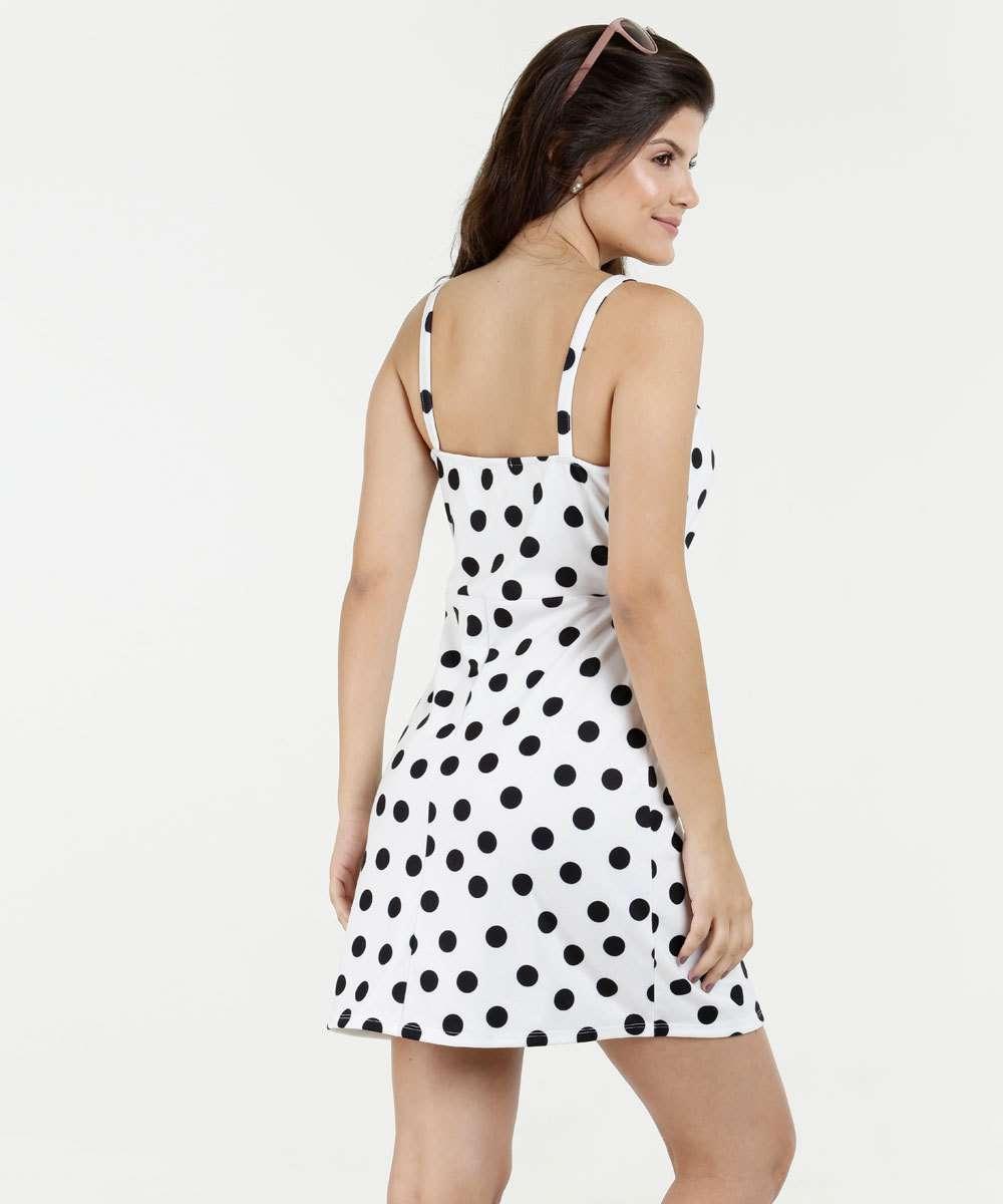 3f18c7465 Vestido Feminino Estampa Bolinhas Alças Finas Marisa | Marisa