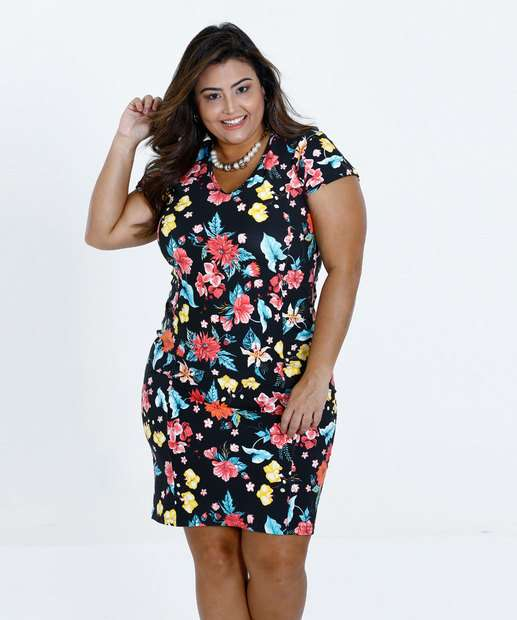 Image_Vestido Feminino Estampa Floral Plus Size Marisa