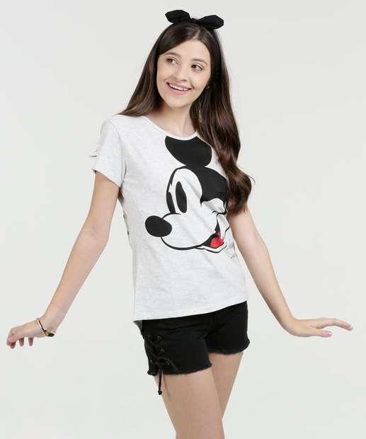 Image_Blusa Juvenil Mickey Manga Curta Disney