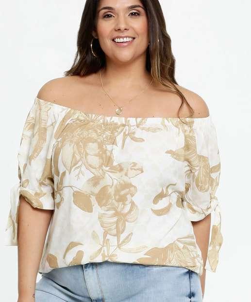 Image_Blusa Feminina Ombro a Ombro Estampa Floral Plus Size Marisa