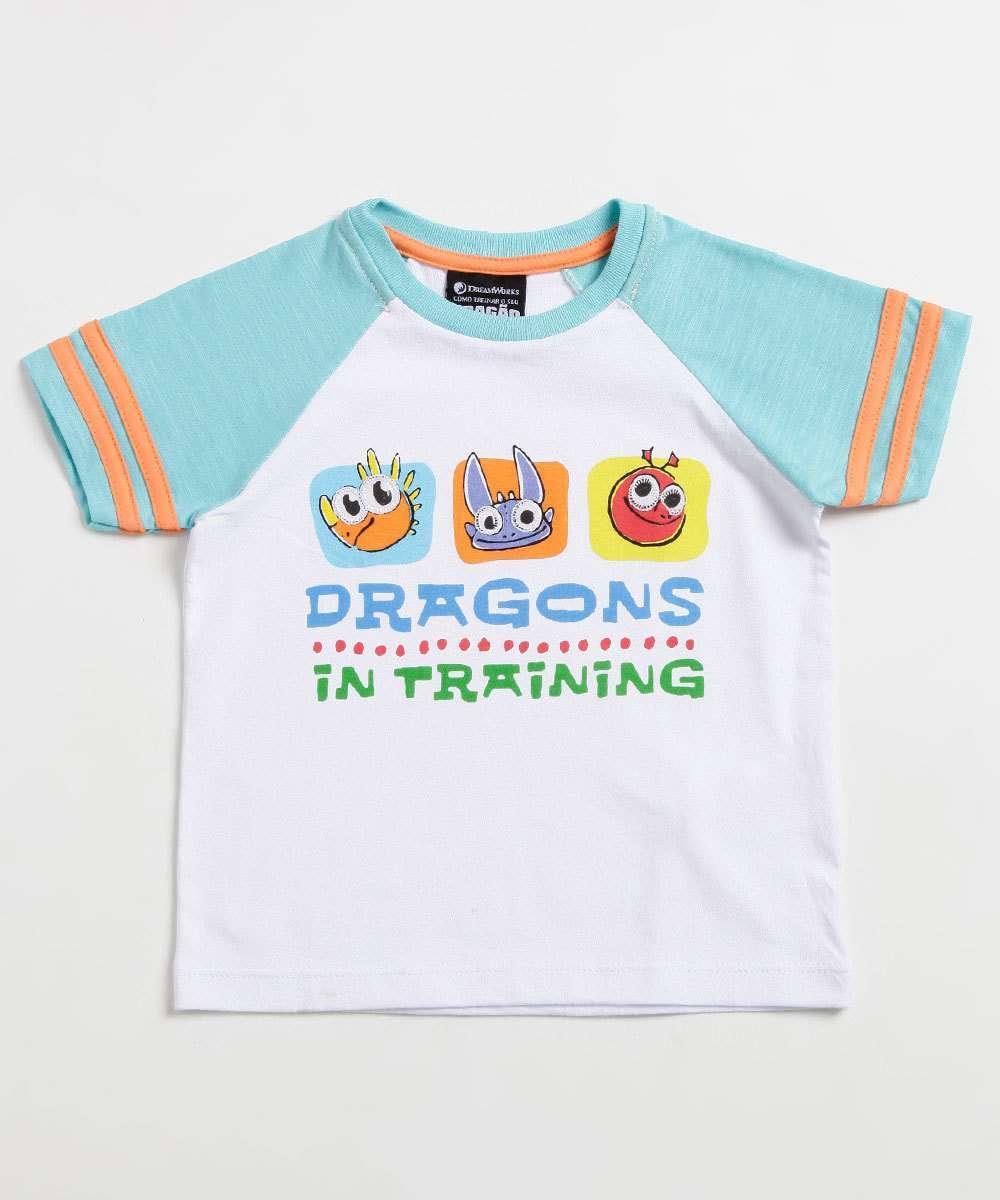 Camiseta Infantil Estampa Dragão Manga Curta Universal