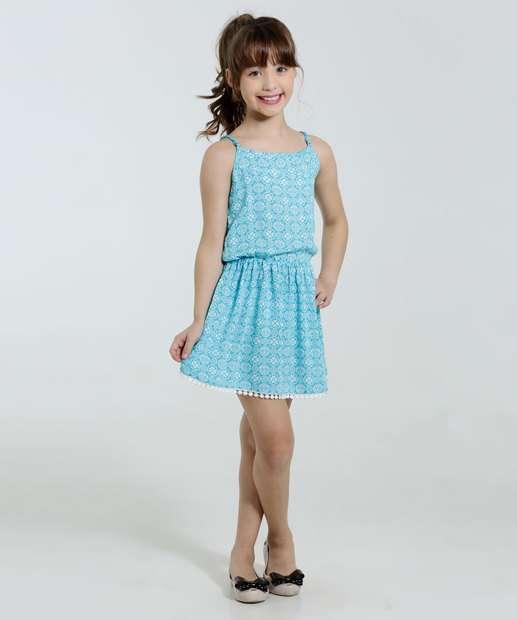Image_Vestido Infantil Estampa Flores Marisa