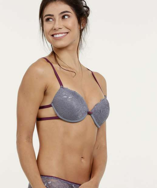 ad2c42a01 Sutiã Feminino Push Up Renda Marisa