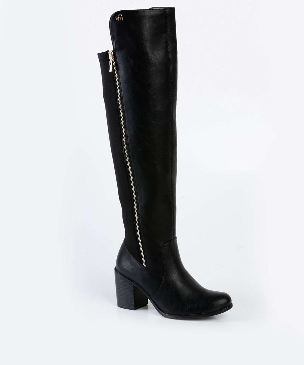 30297ff49 Bota Feminina Over The Knee Via Marte 17101 | Marisa