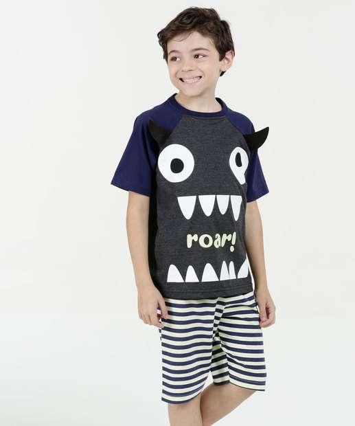 Image_Pijama Infantil Estampa Monstro Marisa
