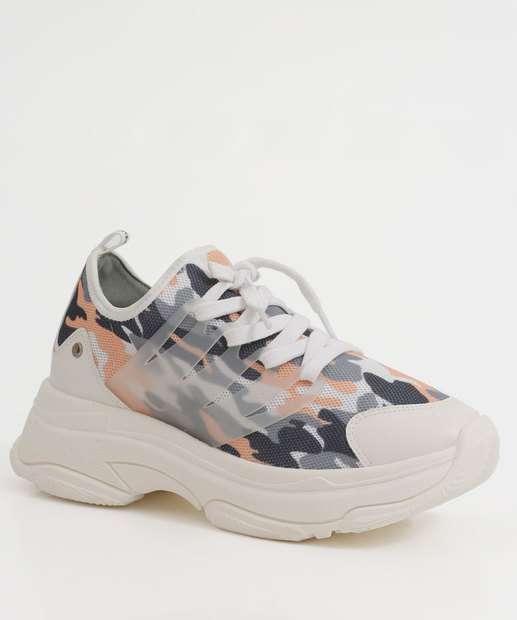 Image_Tênis Feminino Chunky Sneaker Camuflado Bebecê