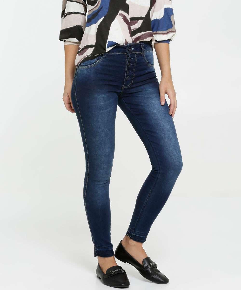 Calça Jeans Skinny Feminina Botões Biotipo