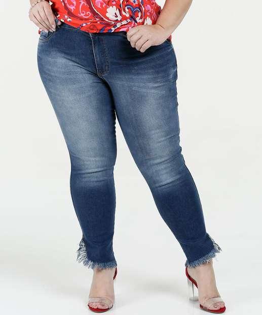 Image_Calça Feminina Jeans Skinny Cintura Alta Plus Size Biotipo