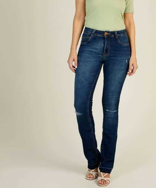 Image_Calça Jeans Boot Cut Feminina Puídos Biotipo