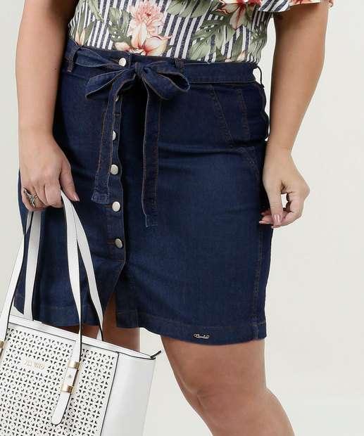 Image_Saia Feminina Jeans Clochard Botões Plus Size