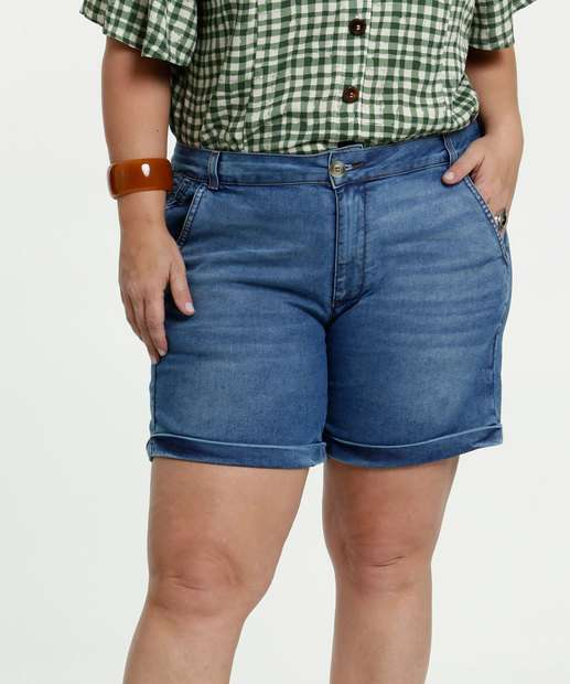 Image_Short Feminino Jeans Stretch Plus Size