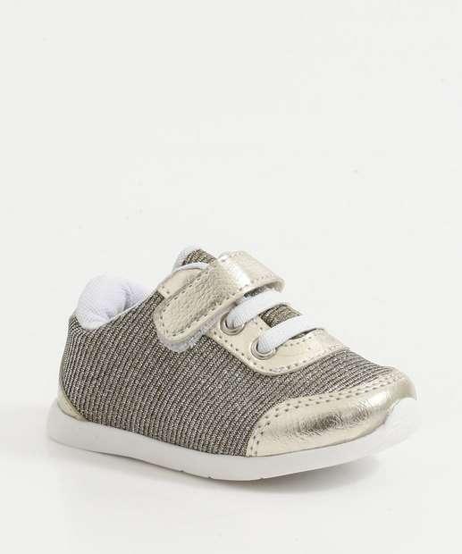 Image_Tênis Infantil Bebê Lurex Recorte Metalizado