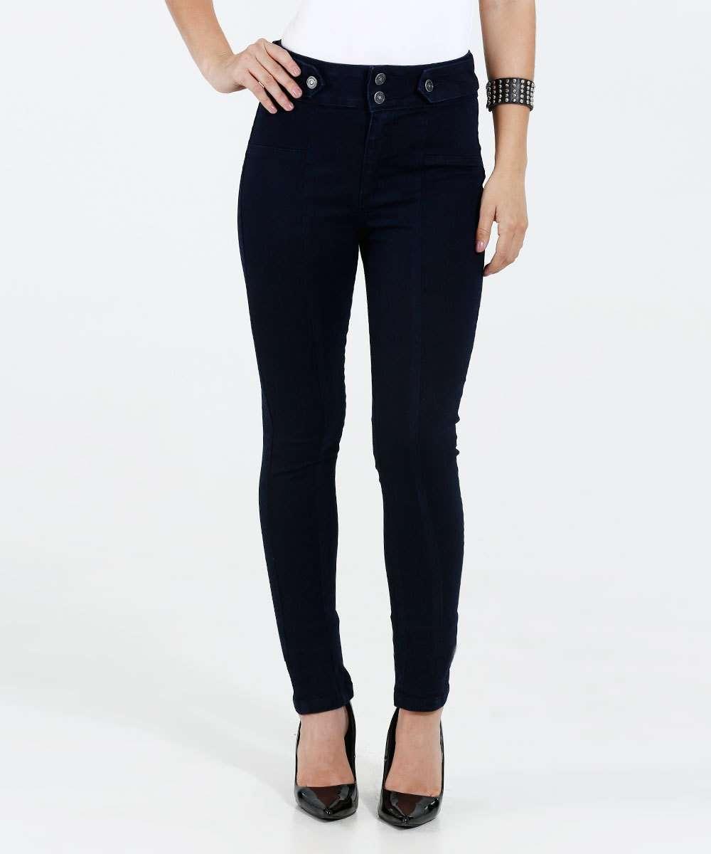 c2fd3b385 Calça Feminina Jeans Skinny Cintura Alta Marisa
