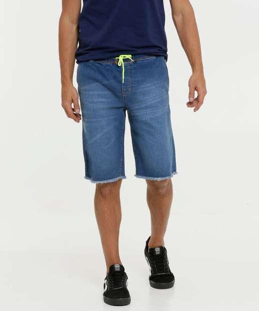 Image_Bermuda Masculina Jeans Tiras Neon Razon