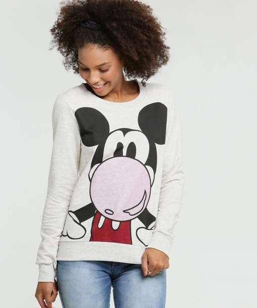 Image_Blusão Feminino Moletinho Estampa Mickey Disney
