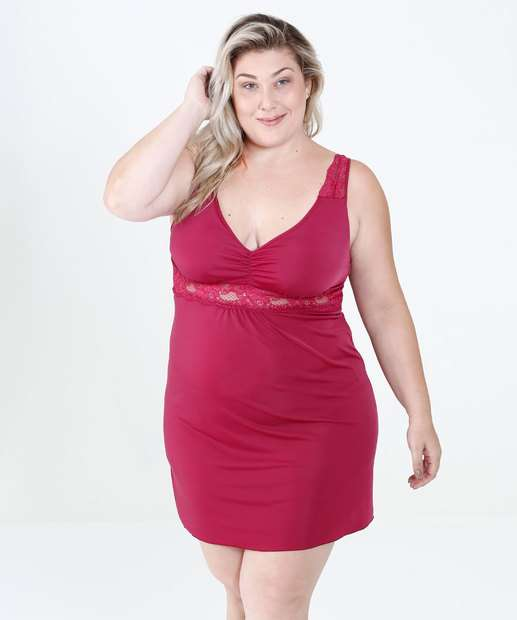 297594eb3 Camisola Feminina Renda Plus Size Marisa