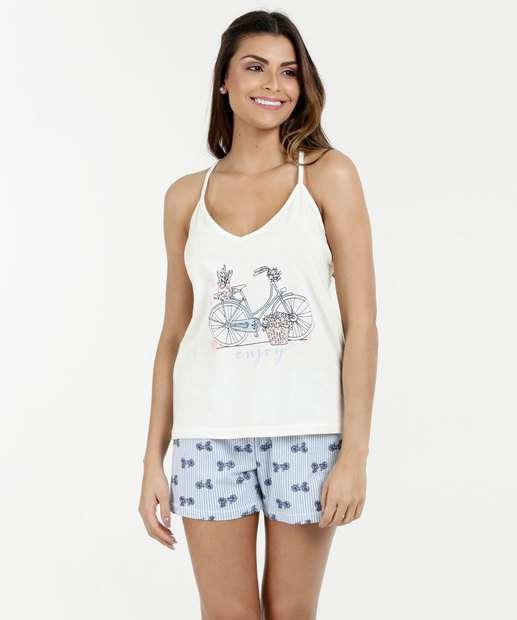 Image_Pijama Feminino Short Doll Estampa Bicicleta Marisa