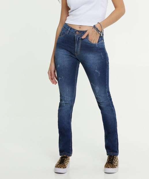 Image_Calça Jeans Puídos Skinny Feminina