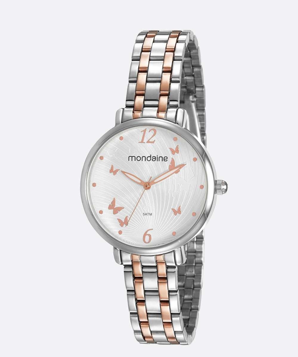 Relógio Feminino Borboleta Mondaine 53826LPMVGE1