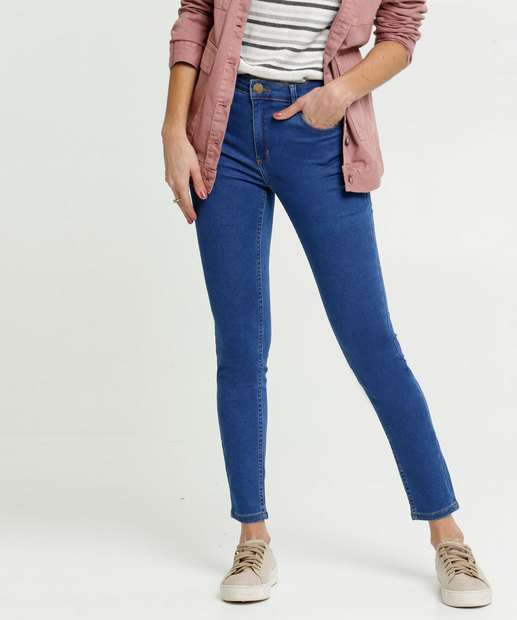 Image_Calça Jeans Skinny Feminina Bolsos Marisa