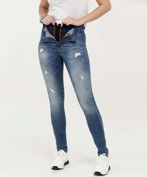 Image_Calça Feminina Jeans Destroyed Super Lipo Modeladora Sawary