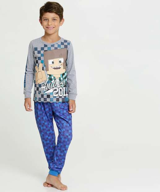 Image_Pijama Infantil Estampado Manga Longa Authentic Games
