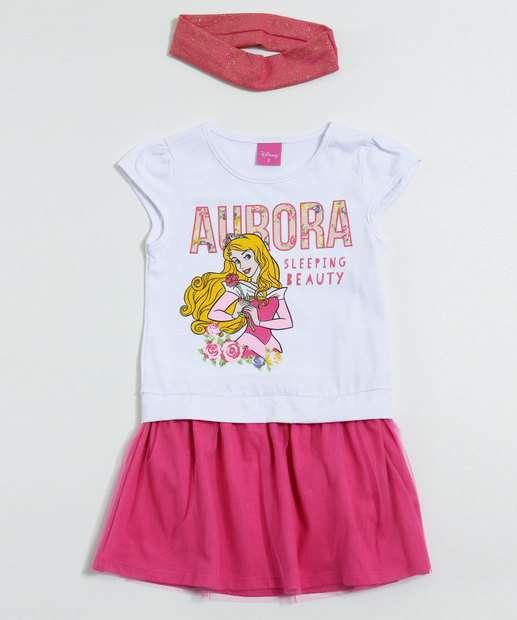 Image_Vestido Infantil Princesa Aurora Tule Tiara Disney