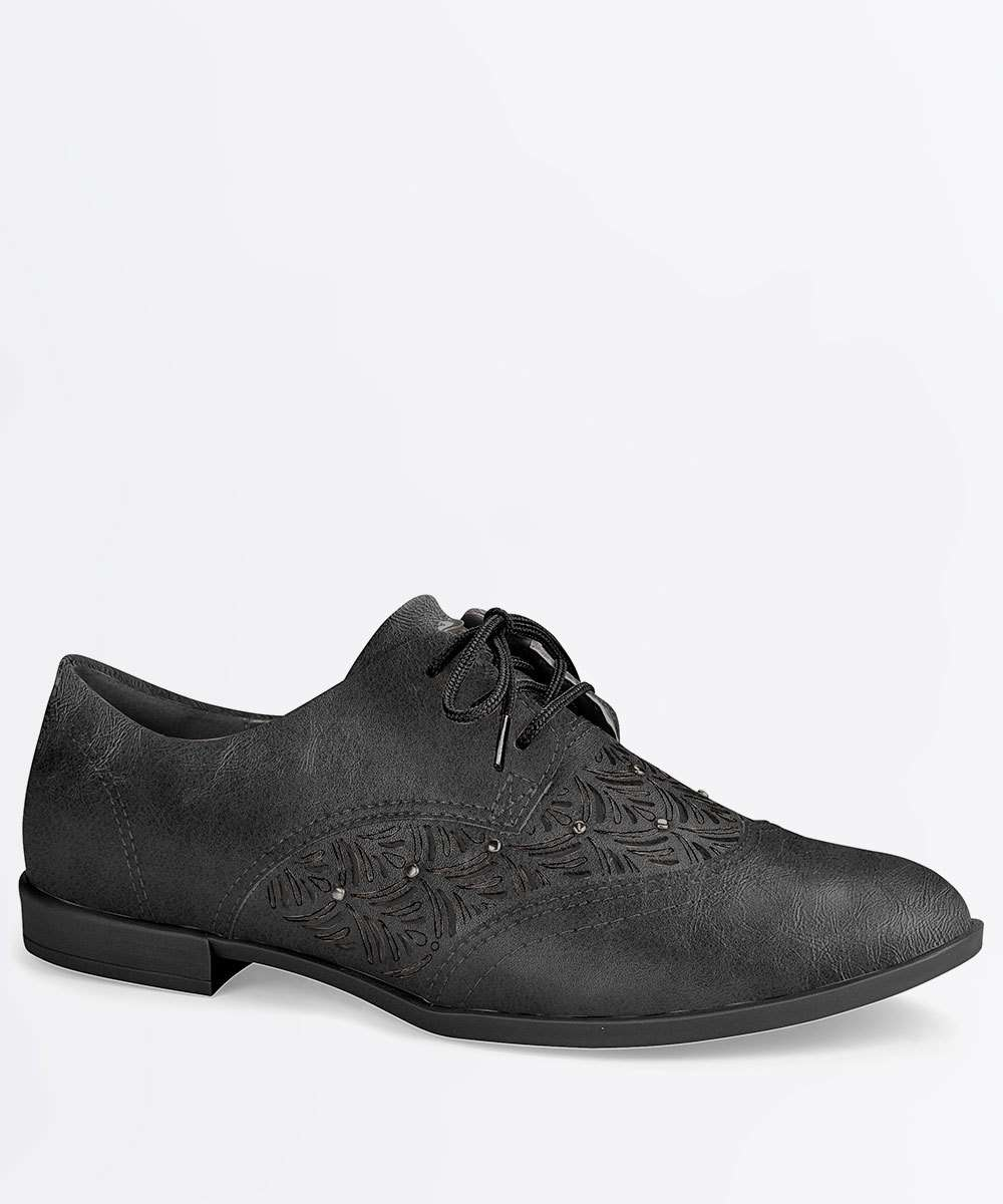 Oxford Feminino Recorte Laser Strass Dakota B9842