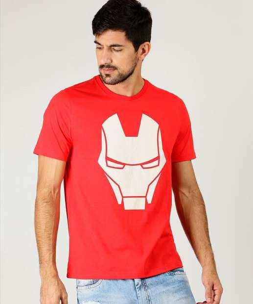 Image_Camiseta Masculina Estampa Homem de Ferro Manga Curta Marvel