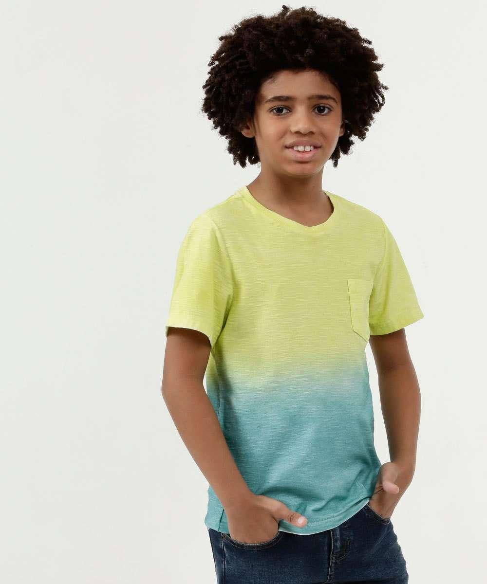 Camiseta Infantil Estampa Degradê Manga Curta MR