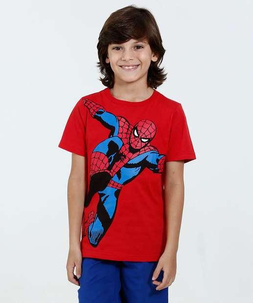 Image_Camiseta Infantil Manga Curta Estampa Homem Aranha Marvel