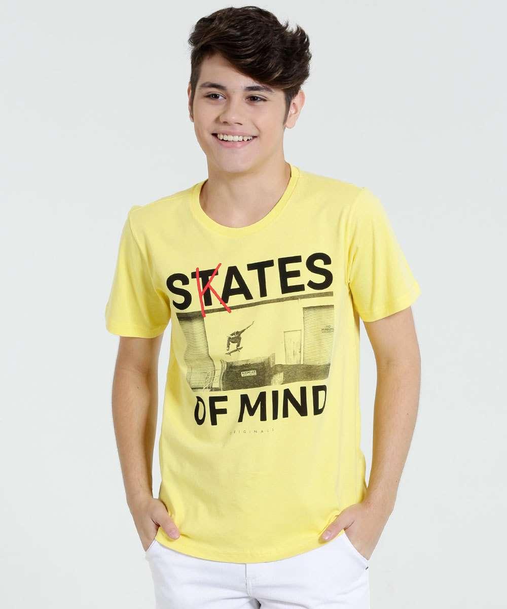 2ade125ca Camiseta Juvenil Manga Curta Skate Marisa | Menor preço com cupom
