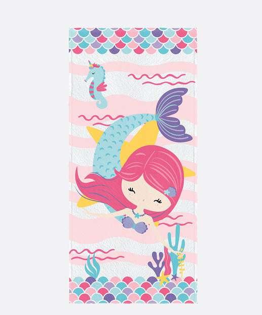 Image_Toalha de Banho Infantil Estampa Oceano Colorido Lepper