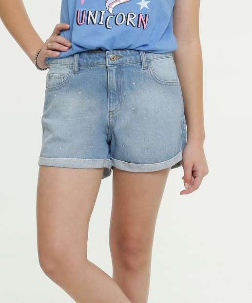 Image_Short Juvenil Jeans Strass Marisa