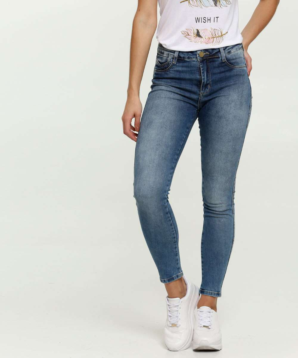 Calça Jeans Push Up Skinny Feminina Sawary