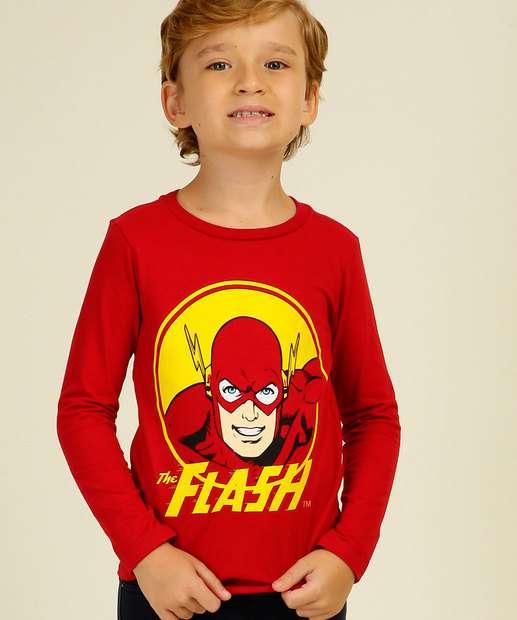 Image_Camiseta Infantil Estampa Flash Liga da Justiça Tam 4 a 10