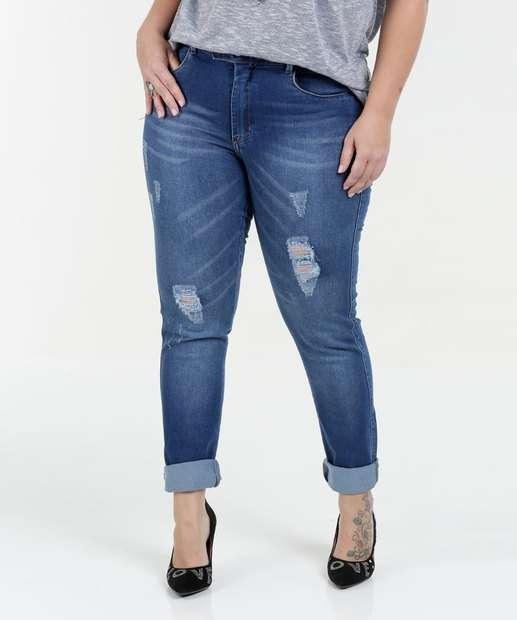 Image_Calça Feminina Jeans Skinny Destroyed Plus Size Razon