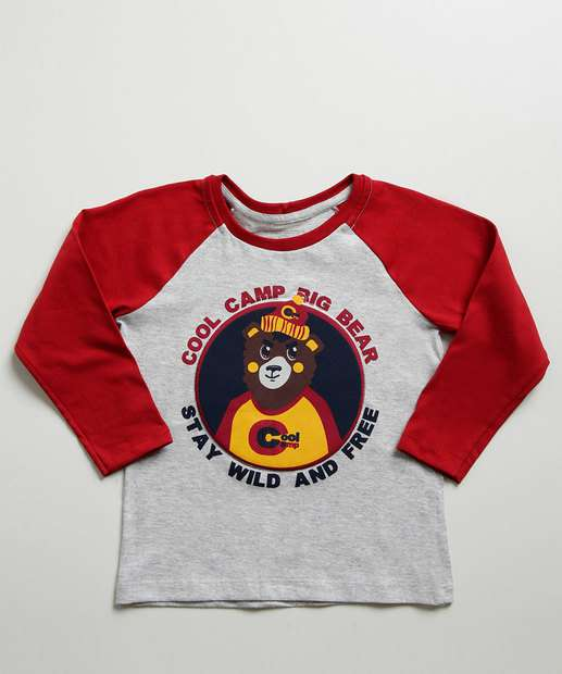 Image_Camiseta Infantil Estampa Urso Manga Longa MR
