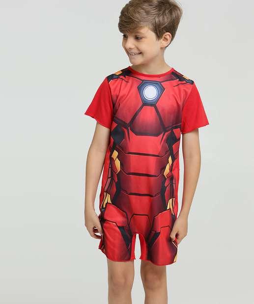 Image_Pijama Infantil Estampa Homem de Ferro Manga Curta Marvel