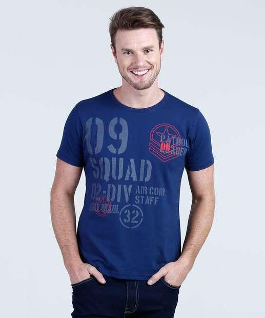 Image_Camiseta Masculina Estampada Manga Curta Eagle Brasil