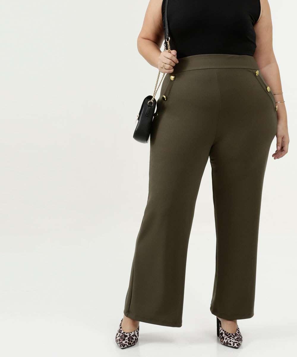 Calça Feminina Pantalona Plus Size Chópp