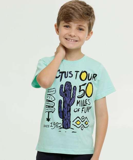 Image_Camiseta Infantil Estampa Cacto Manga Curta