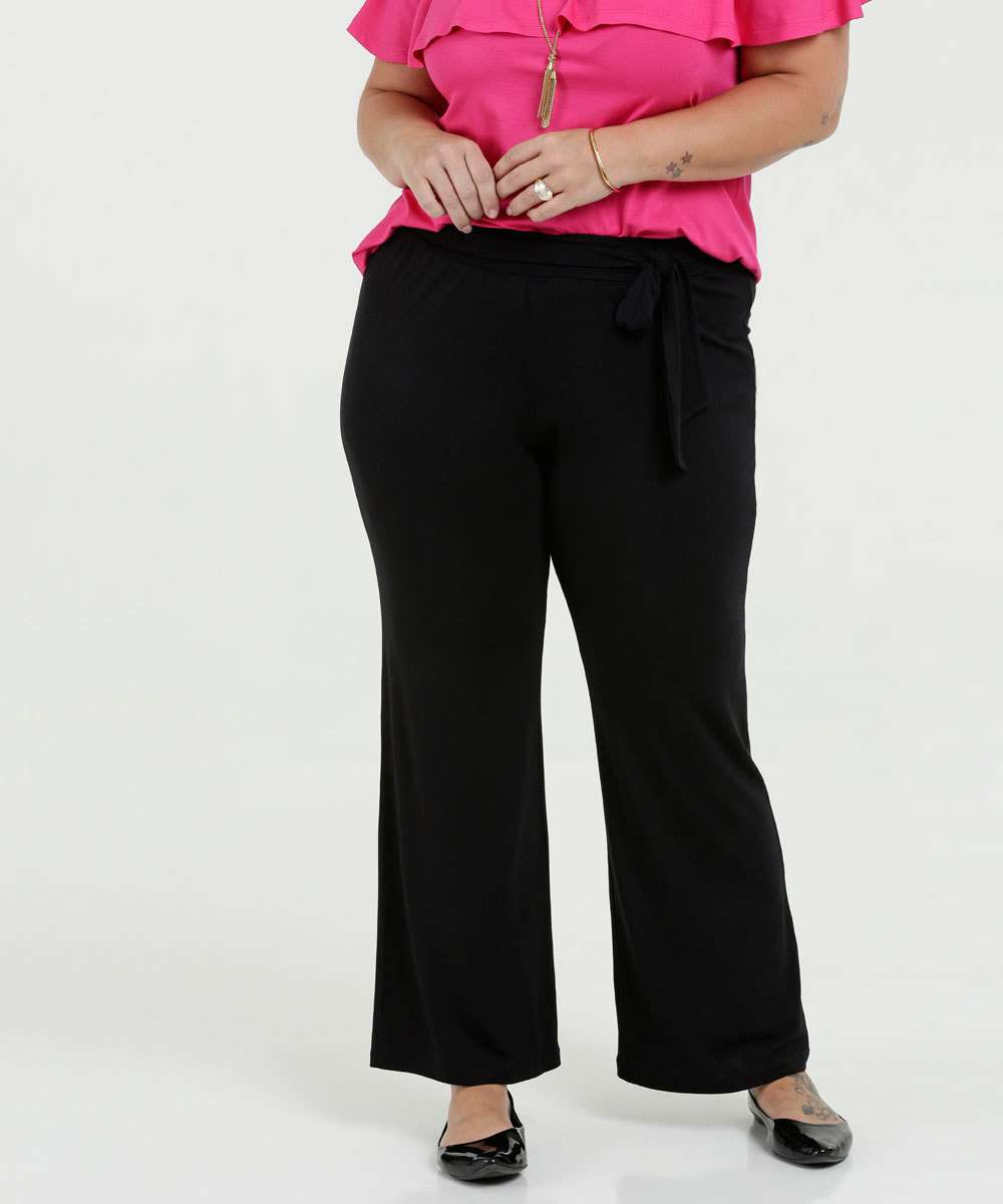 Calça Feminina Pantalona Clochard Plus Size Luktal