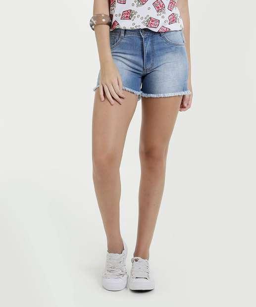 Image_Short Feminino Jeans Stretch Barra Desfiada Biotipo
