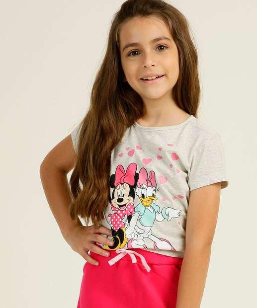 Image_Blusa Infantil Manga Curta Estampa Minnie Disney Tam 4 a 10