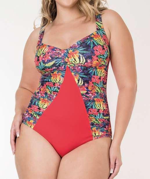 Image_Maiô Feminino FPS 50 Estampado Plus Size Banho de Mar