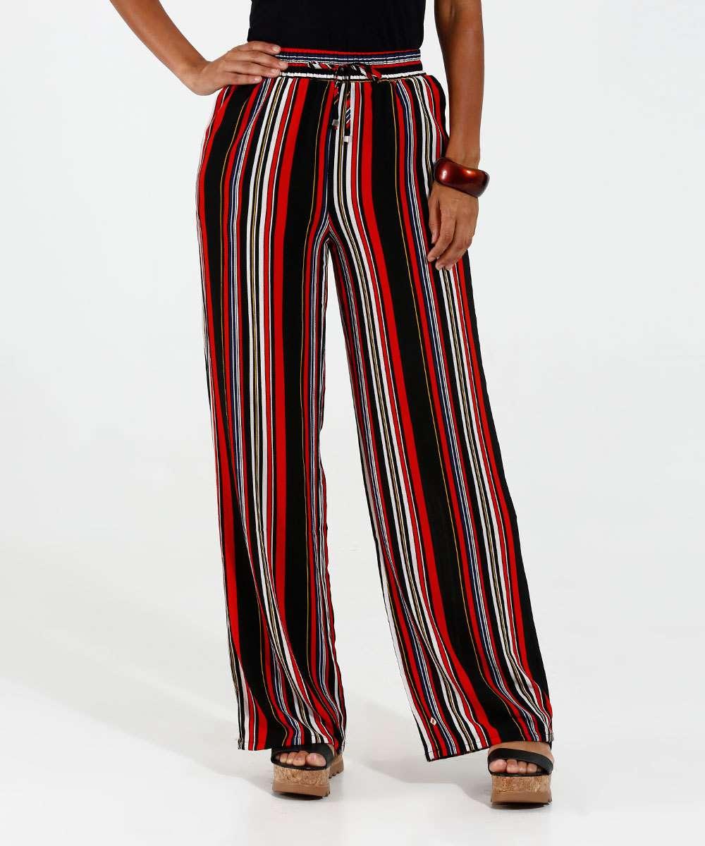 Calça Feminina Pantalona Listrada Marisa  6618253372f